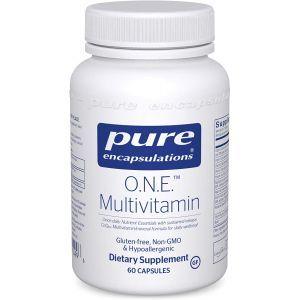 Мультивитамины и минералы, ONE Multivitamin, Pure Encapsulations, 1 в день, 60 капсул