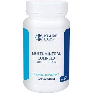 Мультиминеральный комплекс без железа, Multi Mineral Complex, Klaire Labs, 100 капсул