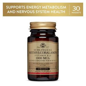 Витамин В12 (метилкобаламин), Vitamin B12, Solgar, сублингвальный, 1000 мкг, 30 таблеток