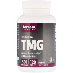 Триметилглицин, TMG, Jarrow Formulas, ТМГ, 500 мг, 120 таблеток (Default)