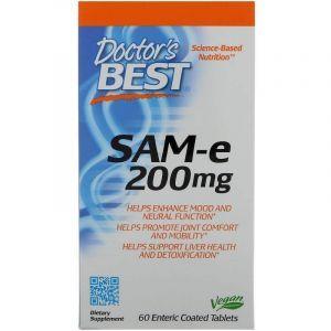 Аденозилметионин, SAM-e, Doctor's Best, 200 мг, 60 табл. (Default)