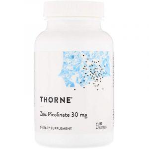 Пиколинат цинка усиленный, Zinc Picolinate, Thorne Research, 30 мг, 180 капсул (Default)
