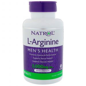 Аргинин, L-Arginine, Natrol, 3000 мг, 90 таблеток