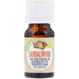 Эфирное масло сандалового дерева, Oil, Sandalwood, Healing Solutions, Essential Oils, 10 мл