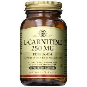 Л карнитин, L-Carnitine, Solgar, 250 мг, 90 капсул