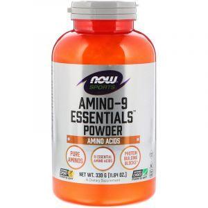 Аминокислоты в спорте, Amino-9 Essentials, Now Foods, Sports, порошок, 330 г (Default)