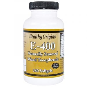 Витамин Е, Vitamin E, Healthy Origins, 400 МЕ, 180 капсул (Default)