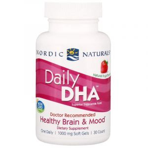 Рыбий жир (клубника), Daily DHA, Nordic Naturals, 1000 мг, 30 кап. (Default)
