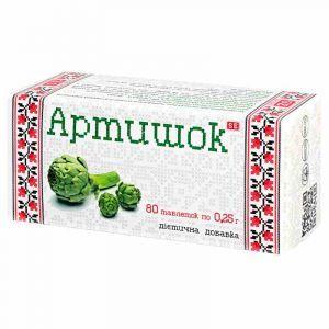 Артишок, Фармаком, 250 мг, 40 таблеток