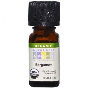 Органическое масло бергамота, Aura Cacia, 7,4 мл