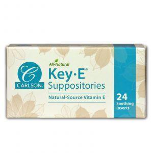 Геморрой, свечи с витамином Е, Key•E Suppositories, Carlson Labs, 24 шт.