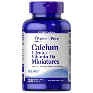 Кальций цитрат + витамин D3, Calcium Citrate + Vitamin D3 Miniatures, Puritan's Pride, 200 таблеток