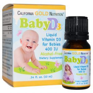 Витамин Д-3 (для детей), California Gold Nutrition, 10 мл