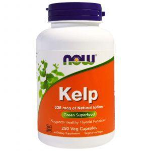 Ламинария, Kelp, Now Foods, 250 кап