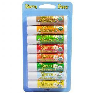 Бальзамы для губ, разные, Lip Balms, Sierra Bees, 8 ш