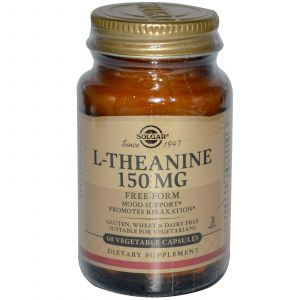 Теанин, L-Theanine, Solgar, 150 мг, 60 капсул