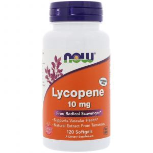 Ликопин (Lycopene), Now Foods, 10 мг, 120 гелевых кап