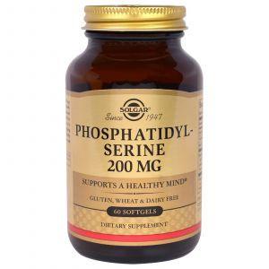 Фосфатидилсерин (Phosphatidylserine), Solgar, 200 мг, 60 капс