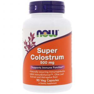 Поддержка для иммунитета, Colostrum, Now Foods, 500 мг, 90 кап
