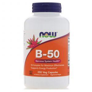 Витамины группы В-50 (комплекс), Now Foods, 250 капсу