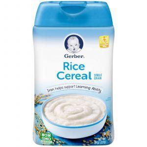 Рисовая каша крупинками, Rice Cereal, Gerber, 227