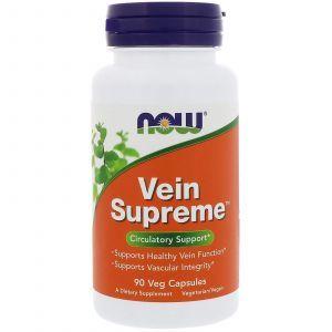 Поддержка для вен, Vein Supreme, Now Foods, 90 капс