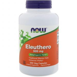 Элеутерококк, Eleuthero, Now Foods, 500 мг, 250 капсу