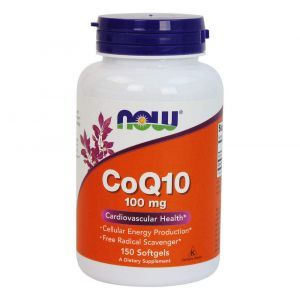 Коэнзим Q10 (CoQ10), Now Foods, 100 мг, 150 капс