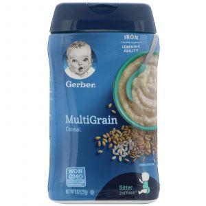 Мультизлаковая каша, Multigrain Cereal, Gerber, 227 г
