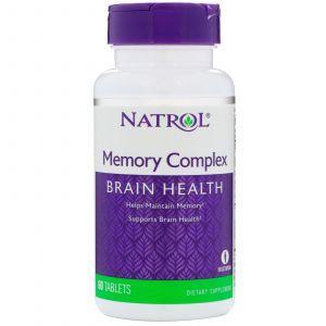 Витамины для памяти, Memory Complex, Natrol, 60 таблет