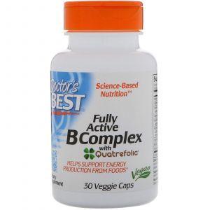 Комплекс витаминов В + С, Active B Complex, Doctor's Best, 30 капс