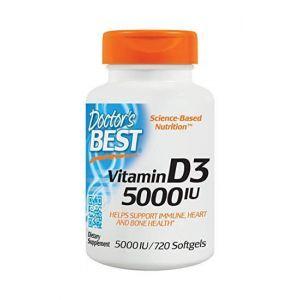 Витамин D3 (холекальциферол), Vitamin D3, Doctor's Best, 5000 МЕ, 720 капс