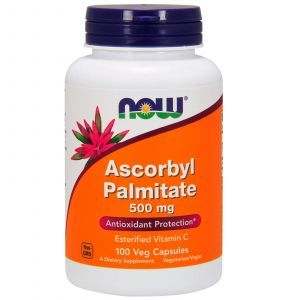 Аскорбилпальмитат, Ascorbyl Palmitate, Now Foods, 500 мг, 100 кап.