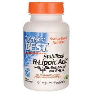R-липоевая кислота, R-Lipoic Acid, Doctor's Best, 100 мг, 180 ка
