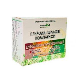 """Природный целевой комплекс """"Аскаридоз, энтеробиоз (острицы, аскариды)"""", GreenSet, растительные препараты, 4 шт"""