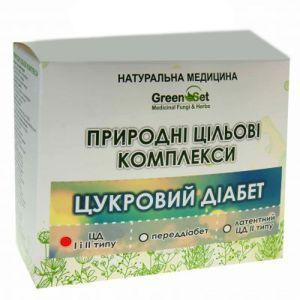"""Природный целевой комплекс """"Сахарный диабет I и II типа при наличии сосудистых нарушений, начальной стадии ангиопатии"""", GreenSet, растительные препараты, 4 шт"""