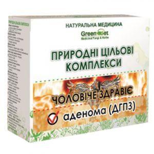 Аденома (доброкачественная гиперплазия предстательной железы), GreenSet, природный целевой комплекс, курс 1, растительные препараты, 4 шт