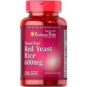 Красный дрожжевой рис, Red Yeast Rice, Puritan's Pride, 600 мг, 120 капсул