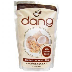 Кокосовая стружка с карамелью, Toasted Coconut Chips, Dang Foods LLC, 90 г
