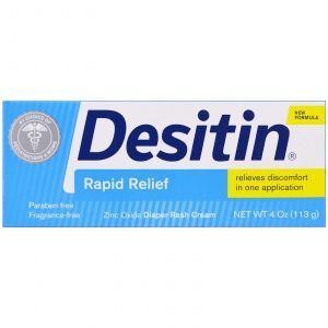 Крем от опрелостей, мгновенное облегчение, Diaper Rash Cream, Desitin, 113 г