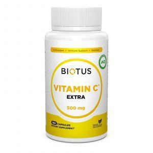 Витамин С экстра, Extra C, Biotus, 500 мг, 100 капсул