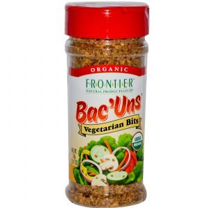 Вегетарианский бекон, Organic Bac'Uns, Vegetarian Bits, Frontier Natural Products, органик, 70 г
