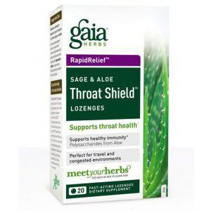 Леденцы от кашля, и боли в горле (алоэ), Gaia Herbs, 20 шт.