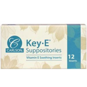 Геморрой, свечи с витамином Е, Key•E Suppositories, Carlson Labs, 12 шт.