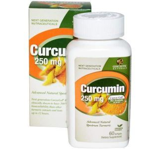 Куркумин, Genceutic Naturals, 250 мг, 60 капсул