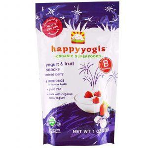 Живой йогурт с ягодами, Yogurt & Fruit Snacks, Mixed Berry, Nurture Inc, 28 г