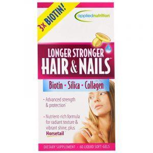 Комплекс для волос и ногтей, Longer Stronger Hair & Nails, Irwin Naturals, 60 гелевых капсул