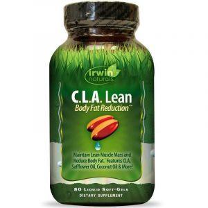 Жиросжигатель, снижение веса, C.L.A. Lean, Irwin Naturals, 80 гелевых капсул
