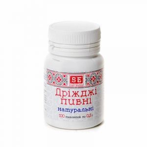 Дрожжи пивные натуральные, Фармаком, 500 мг, 100 таблеток