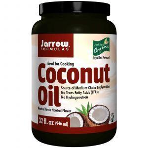Кокосовое масло органическое, Coconut Oil, Jarrow Formulas, 946 мл